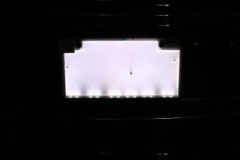 【レビュー記載で送料無料】字光式LEDナンバープレートフロント用超高輝度極薄8mm12V車-点灯イメージ
