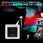 トヨタダイハツ車専用1ポートUSB増設QC3.0認証急速充電ポートクイックチャージャーサービスホールビルトインカプラーオンRAV4カムリカローラタントなど[A]
