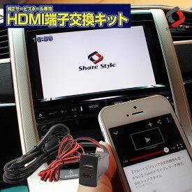 \P最大51倍!お買い物マラソン28日1:59まで!/HDMI増設スイッチパネル サービスホールキット スマホと車をミラーリング メーカー別専用設計 HDMI機能付ナビ対応 HDMI スマホ iphone HDMIミラーリング [PT20]