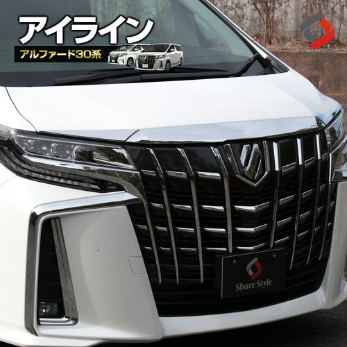 トヨタアルファード30系後期アイライン2Pシェアスタイルオリジナルパーツ[K]