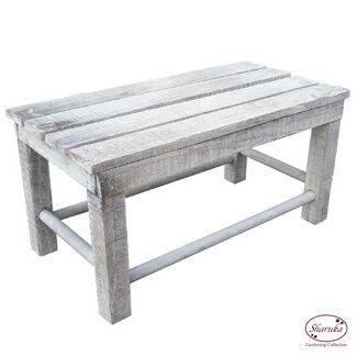 花台 木製 アンティーク スツール イス 椅子 フラワースタンド 白 ホワイト カントリー 雑貨 おしゃれ かわいい 【ウッド花台Wワイド SWD-03】