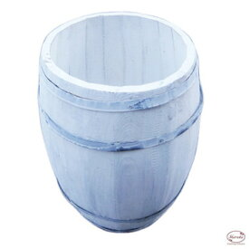 樽 置物 バレル 木製 植木鉢 白 ペンキ ホワイト アンティーク カントリー 【コーヒーバレルNL】