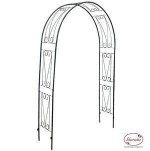 【ポイント5倍】SGA-1 ガーデンアーチクラウディア2400BL ワイド型【アイアン アーチ 幅広150cm】