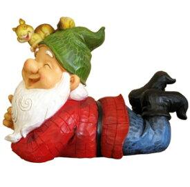 妖精 小人 フェアリー 木こり インテリア 雑貨 ディスプレイ 庭 玄関 オーナメント 置物 おしゃれ かわいい 【スマイル妖精木こりB 】