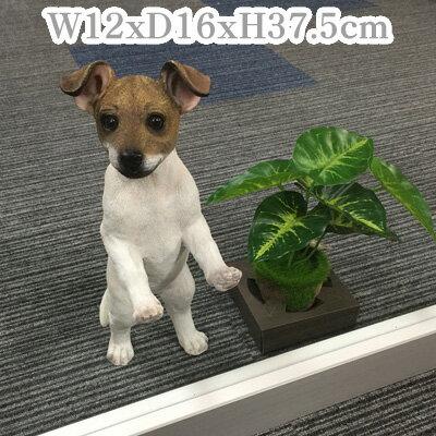 ラッセルテリアスタンド ジュン【犬 オーナメント 置物】【2017regin】【戌年】