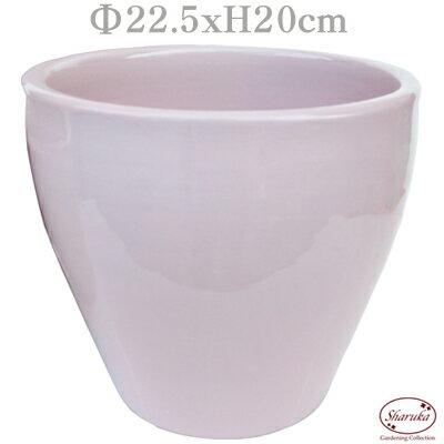 GPカラーラウンドポット ピンクM パステル 化粧鉢 ピンク 鉢カバー ポットカバー 寄せ植え 鉢 室内 多肉 小さい おしゃれ かわいい 陶器鉢