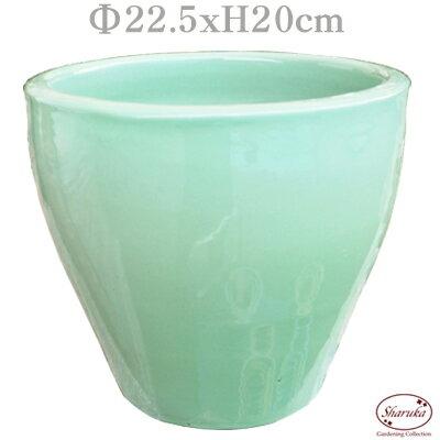 GPカラーラウンドポット グリーンM パステル 緑 化粧鉢 鉢カバー ポットカバー 寄せ植え 鉢 室内 多肉 小さい おしゃれ かわいい 陶器鉢