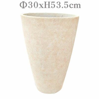 DP.トールエッグプランター53-N.WCL【プラスチックポット アンティーク クリーム 白】【dekopura】