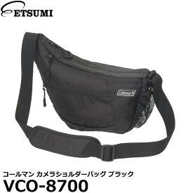 【送料無料】 エツミ VCO-8700 コールマン カメラショルダーバッグ ブラック [Coleman カメラバッグ ミラーレス/小型一眼レフカメラにおすすめ]