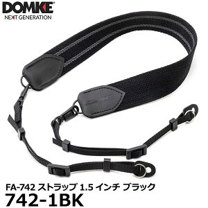 【送料無料】 ドンケ 742-1BK FA-742ストラップ1.5インチ スイベル金具付 ブラック [DOMKE純正カメラストラップ 太幅 国内正規品]