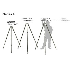《11月30日発売予定》《2年延長保証付》【送料無料】GITZOGT4543LSシステマティック三脚4型4段ロング[高さ158cm/格納高61cm/耐荷重25kg/自重2.38kg/カーボン三脚/ジッツオ]【予約】