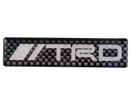 【メール便可】TRD カーボンステッカー(ロゴタイプ)