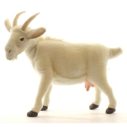 シロヤギ 48cm【送料無料】オーストラリア生まれのブランドHANSA(ハンサ)の安全で良質なファーを使用した、本物そっくりのぬいぐるみ
