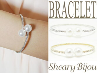 Pearl x stone ring bracelet wedding 3 blacelet bangle pearl bracelet Bangle ladies store bargain deals popular