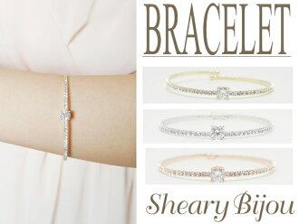 Sparkling stone to achieve adult Lady style Lady bracelet wedding 2次会 party party graduation ceremony entrance ceremony for birthday party