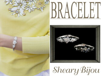 Classy babe cubiczirconiaflowersilver bracelet!