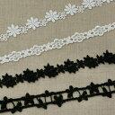 ケミカルレース 黒 白 4柄 50cm単位 服飾資材 手芸 花柄など4柄 使い易い ケミカルレース【日本製】【シープドリームズ】