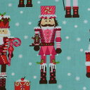 usaコットン マイケルミラー 生地 兵隊さん 50cm単位 クリスマス生地 手芸 インテリア Nutcrackers 綿100% 輸入生地 【シープドリーム…
