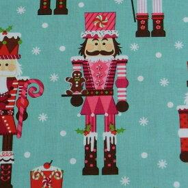 usaコットン マイケルミラー 生地 兵隊さん 10cm単位 クリスマス生地 手芸 インテリア Nutcrackers 綿100% 輸入生地【シープドリームズ】