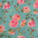 オーガンジー 生地 花柄 薔薇 140cm幅 50cm単位 洋裁 服地 ドレス 衣装 手芸 インテリア 広幅オーガンジー【日本製】【シープドリーム…