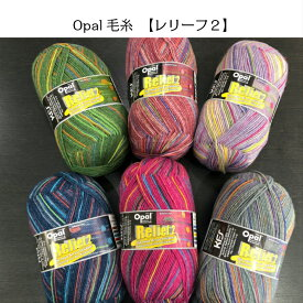 opal毛糸 レリーフ2シリーズ 単純な編み方で可愛い柄が編める毛糸 KFS梅村マルティナさん監修の新作Opal毛糸