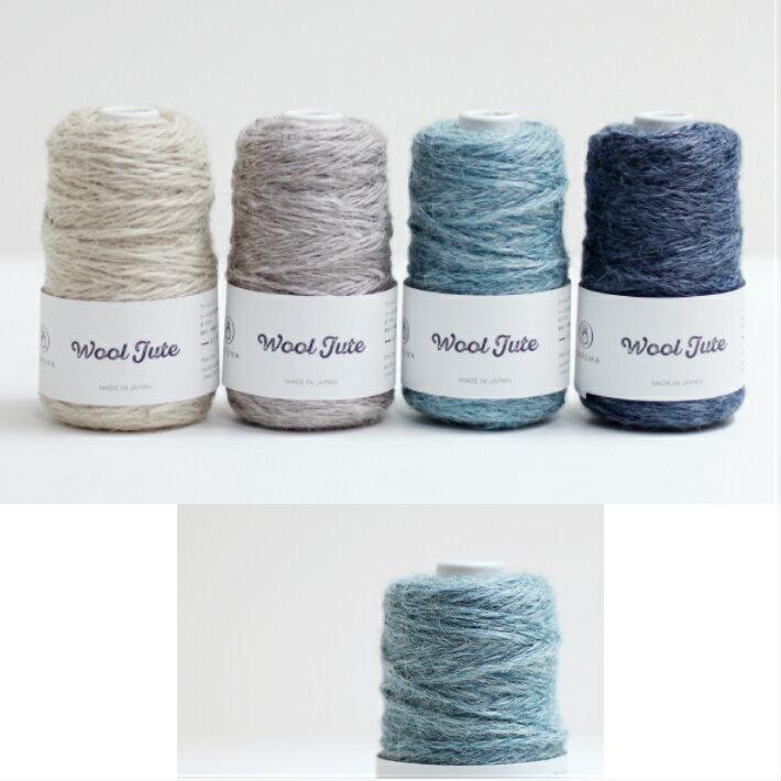 ダルマ ウールジュート メランジ感のある色味 軽い編み上がり エスニックな雰囲気の編み地