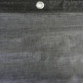 防炎メッシュシート(黒)ブラック 1.8m×5.4m(10枚入)ハトメ付き 防炎二類防炎メッシュシート(公益財団法人日本防炎協会認定)