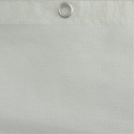 防炎メッシュシート(白)ホワイト 1.8m×6.3m(10枚入)ハトメ付き 防炎二類防炎メッシュシート(公益財団法人日本防炎協会認定)