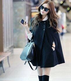 【送料無料】ポンチョ風 コート コーディガン ジャケット 黒 アウター セーター 大きいサイズ 冬 春 レディース