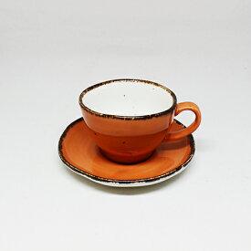 フリッシュ 8cm カップ&ソーサー オレンジ業務用 業務用食器 レストラン ホテル カフェ コーヒー ティー 紅茶 スープ デザート イタリアン フレンチ 和カフェ