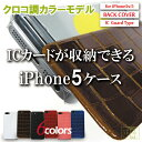 アイクレバーiPhone5/5s/SEケース クロコ調