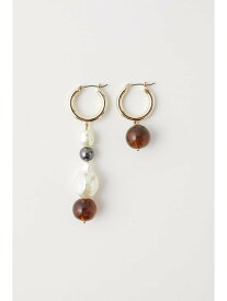 [Rakuten Fashion]【SALE/20%OFF】FAUX PEARL ASYMMETRY EARRINGS MOUSSY マウジー アクセサリー イヤリング ゴールド ブラック【RBA_E】