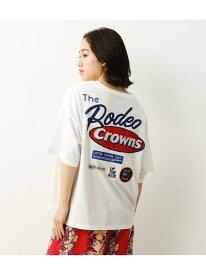 【SALE/33%OFF】Mix big VネックTシャツ RODEO CROWNS WIDE BOWL ロデオクラウンズワイドボウル カットソー Tシャツ ホワイト レッド ブルー グレー【RBA_E】[Rakuten Fashion]