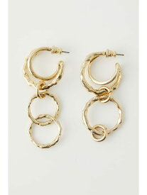 [Rakuten Fashion]OVERLAP RING ピアス SLY スライ アクセサリー イヤリング ゴールド ブラック