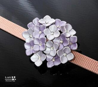 ★ restocked ★ four seasons isn't-hydrangeas-belt clamp purple blue