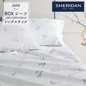 SHERIDAN シェリダン JUNO/ジュノ BOXシーツ ベッド ボックスシーツ シングル 100×200×40cm 海外ブランド ブランド 百貨店 ふとん・寝具 寝室 おしゃれ シンプル きれい 100cm 200cm 40cm