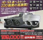 220万画素IP66対応屋外用赤外線防犯カメラ4台とHD-SDI対応4chネットワーク録画機セットDVRSET-HD014
