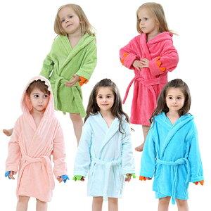 【人気上昇】バスローブ キッズ 子供 赤ちゃん ベビー 男の子 女の子 前開き ルームウエア ナイトウエア 寝間着 部屋着 着る毛布 フード付き 長袖 可愛い ふわふわ 無地 リラックス ゆったり