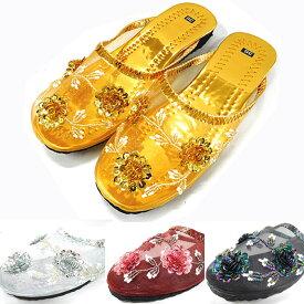 ベトナムメッシュサンダルベトナムサンダル 春夏 メンズ レディースビーズ 花 かわいい v-sandals