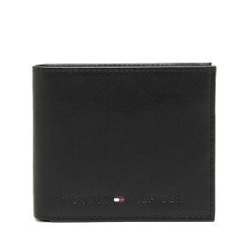 トミーヒルフィガー メンズ 二つ折り財布TOMMY HILFIGER WELLESLEY31TL25X005 001BLACK(黒)