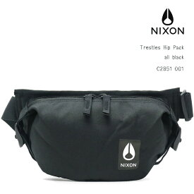 NIXON Trestles Hip Pack all blackニクソントレスルズ ヒップパックALL BLACK ブラック(黒)ヒップバッグ、ボディバッグ、ウエストバッグメンズ、レディース、ジュニアデイリー、通勤、通学、旅行