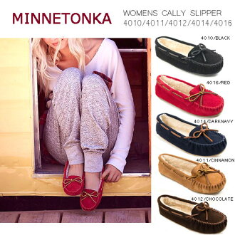 ★Exchangeable new arrival ★ MINNETONKA WOMENS CALLY SLIPPER Mine Tonka Lady's carries ripper woman carry ふわもこ moccasins size in winter the autumn of 2017 (please confirm a condition)