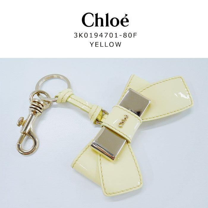 Chloe(クロエ) クロエ リボン キーリング クロエ キーホルダー3k019470180f GOLD ゴールド イエロー 春夏 かわいい シンプル レディース 新品長期在庫品