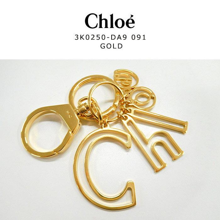 ★ラッピング無料★Chloe(クロエ) クロエ キーリング クロエ ロゴ キーホルダー3K0250DA9091 GOLD ゴールド  かわいい シンプル レディース