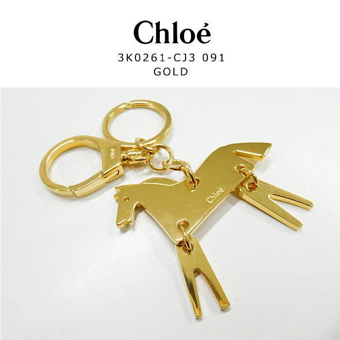 ラッピング無料★Chloe(クロエ) クロエ キーリング クロエ モチーフ キーホルダー 3K0261CJ3091 GOLD ゴールド 43336 かわいい シンプル レディース