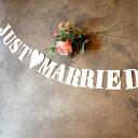 人気あります★【JUST MARRIED】ウェディングガーランド インテリア ウェディングフォト ガーランド デコレーション…