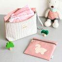 【メール便送料無料】【ピンク】ベイビー おむつポーチ(2セット)マザーズバッグ ママバッグ 収納 軽い 軽量 大容量 中身 おむつ おしりふき