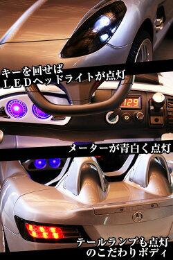 乗用ラジコンBENZSLRスターリングモスWモーター&大型バッテリーベンツ正規ライセンス品のハイクオリティペダルとプロポで操作可能な電動ラジコンカー乗用玩具子供が乗れるラジコンカーRCRC電動乗用玩具送料無料02P05Nov16[DMD-158]
