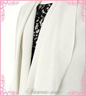 レンタルドレスレディース(大人)「ベージュジャケット黒レースワンピセット」9号【g537】パーティドレスレンタル・ドレスレンタル「20代30代40代50代60代70代フォーマルレディースファッションが全て揃う」