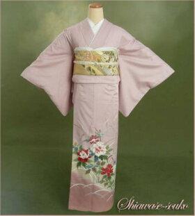 色留袖レンタル15点フルセット「藤色牡丹すすき」ht014